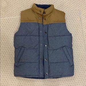 GAP denim/khaki puffer vest.